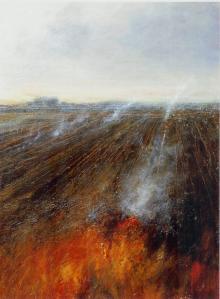 L'alba sui campi bruciati